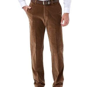 Hangar Camel Classic Fit Plain Front Pants 40X32